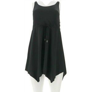 Demin & Co Beach Handkerchief Hem Swim Dress